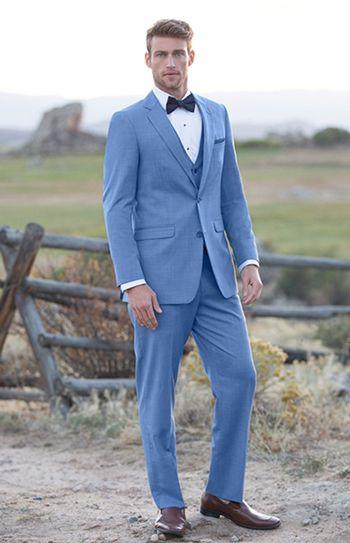 cornflower suit